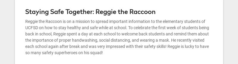 Staying Safe Together: Reggie the Raccoon Reggie the Raccoon is on a mission to spread important...