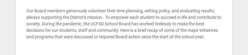 Our Board members generously volunteer their time planning, setting policy, and evaluating...