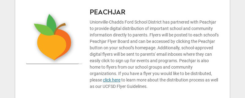 PEACHJAR Unionville-Chadds Ford School District has partnered with Peachjar to provide digital...