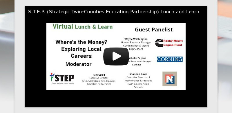 S.T.E.P. (Strategic Twin-Counties Education Partnership) Lunch and Learn