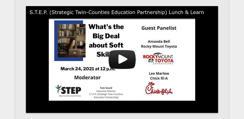 S.T.E.P. (Strategic Twin-Counties Education Partnership) Lunch & Learn