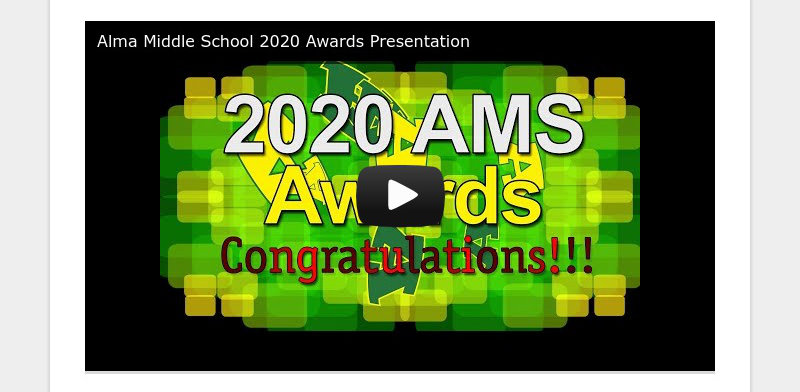 Alma Middle School 2020 Awards Presentation
