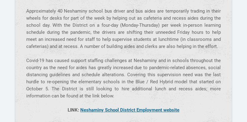 Approximately 40 Neshaminy school bus driver and bus aides are temporarily trading in their...