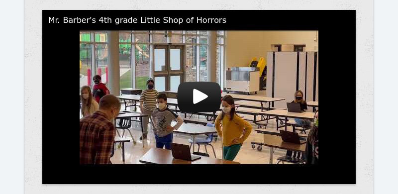 Mr. Barber's 4th grade Little Shop of Horrors