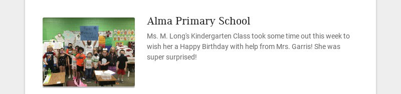 Alma Primary School