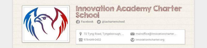 Innovation Academy Charter School Facebook @iacharterschool 72 Tyng Road, Tyngsborough, MA,...
