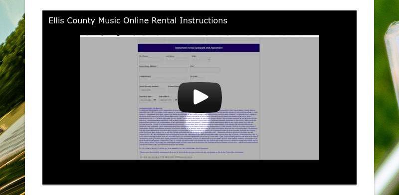 Ellis County Music Online Rental Instructions