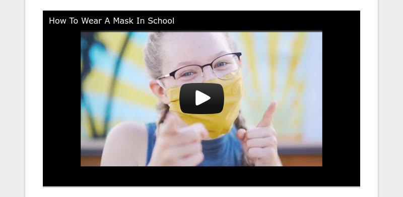 How To Wear A Mask In School
