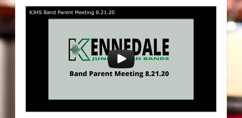 KJHS Band Parent Meeting 8.21.20