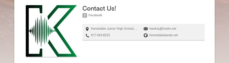 Contact Us! Facebook Kennedale Junior High School, Corry A Edwards Drive, Kennedale, TX, USA...