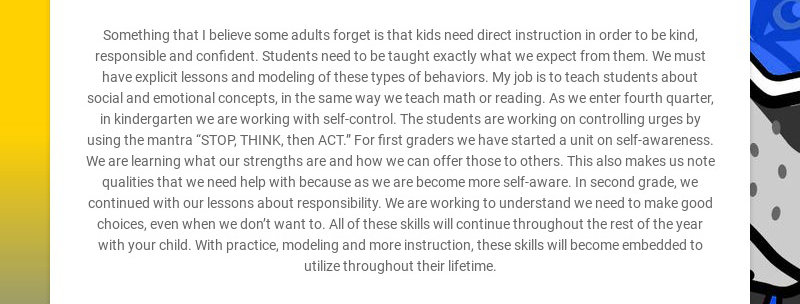 Something that I believe some adults forget is that kids need direct instruction in order to be...