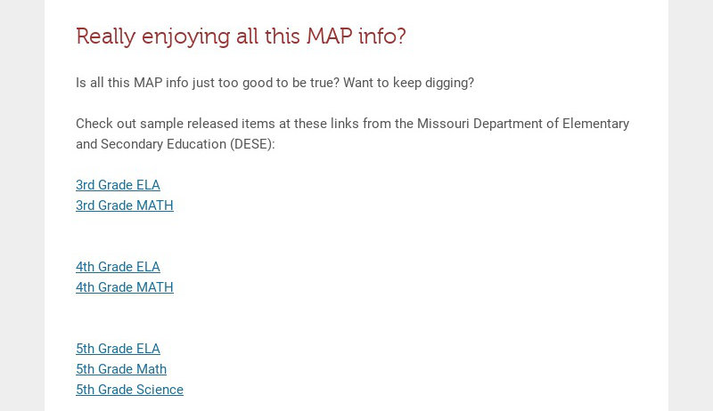 Really enjoying all this MAP info? Is all this MAP info just too good to be true? Want to keep...