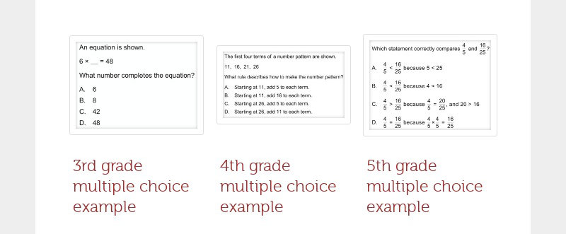 3rd grade multiple choice example 4th grade multiple choice example 5th grade...