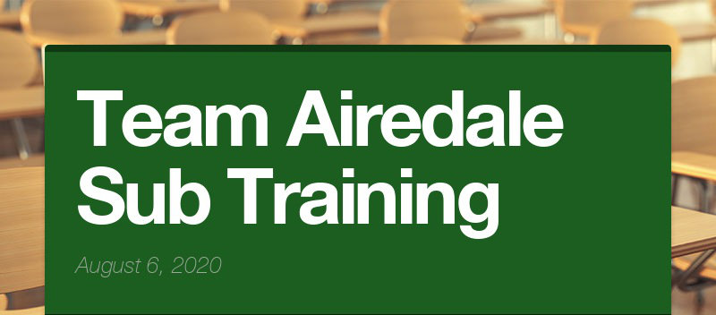 Team Airedale Sub Training