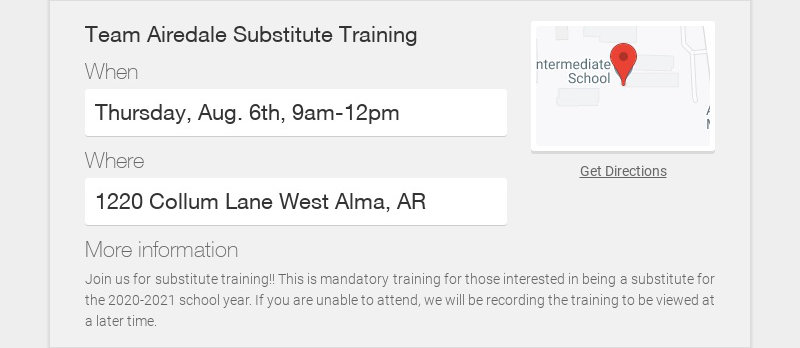 Team Airedale Substitute Training