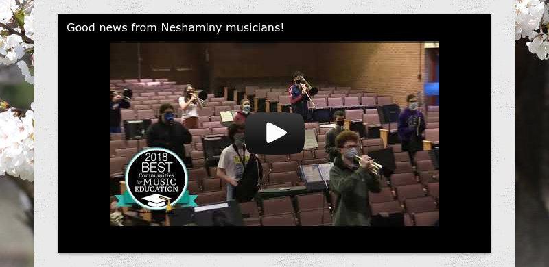 Good news from Neshaminy musicians!