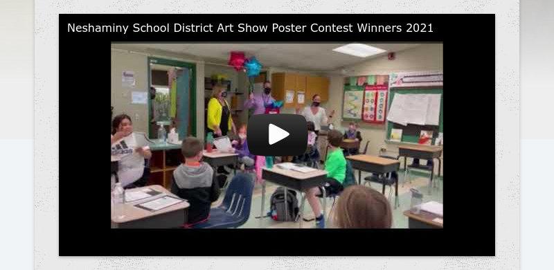 Neshaminy School District Art Show Poster Contest Winners 2021