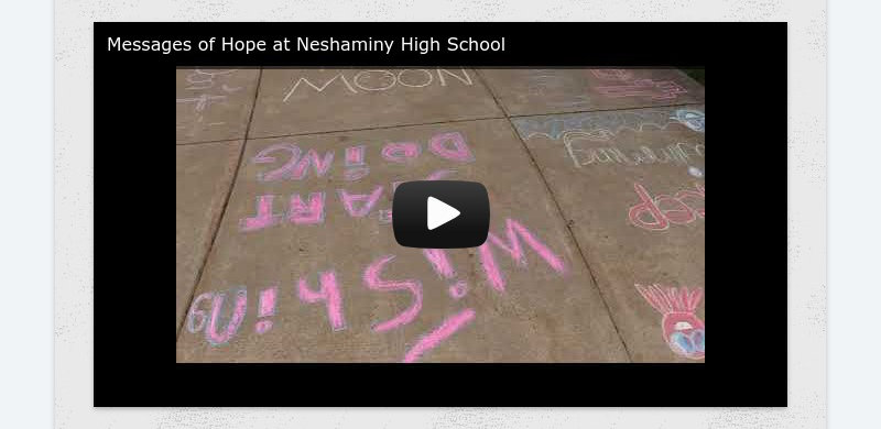 Messages of Hope at Neshaminy High School