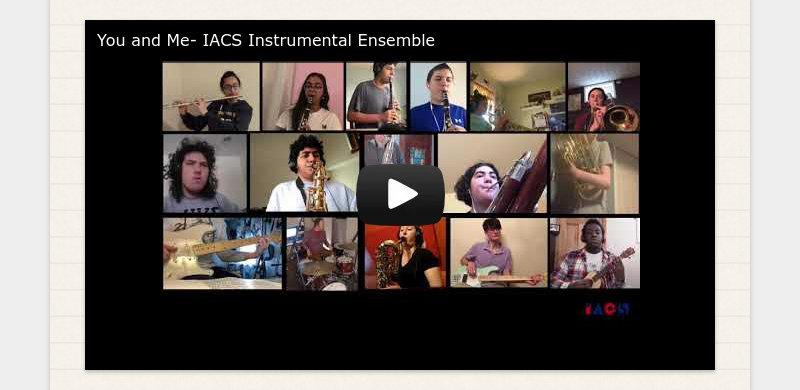 You and Me- IACS Instrumental Ensemble