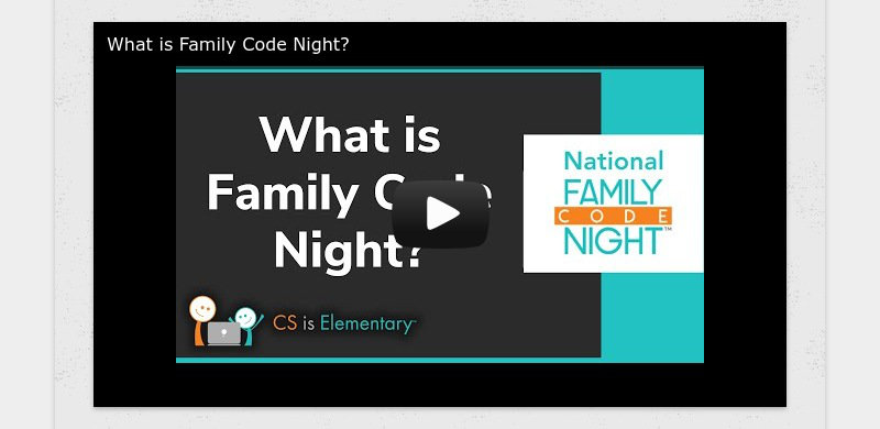 What is Family Code Night?