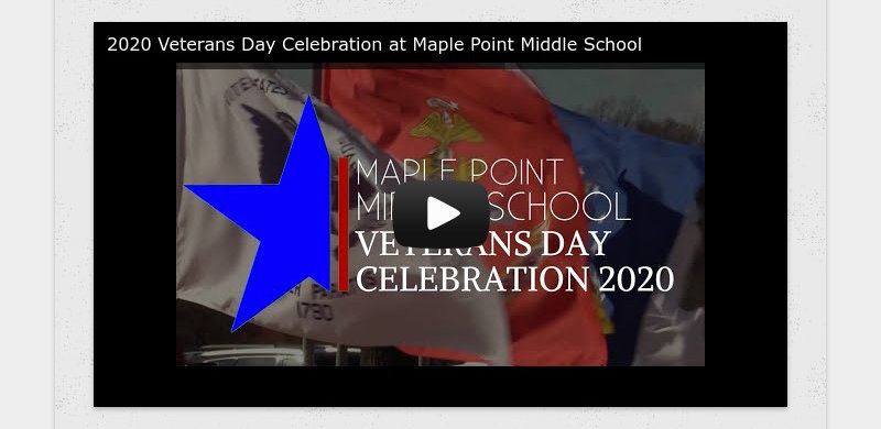 2020 Veterans Day Celebration at Maple Point Middle School